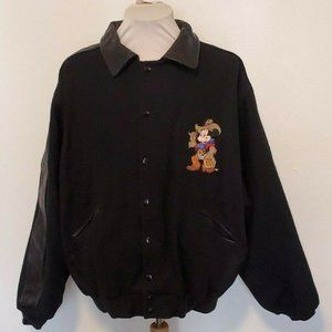"""Too Cute"" Guetta Disney Leather wool Jacket 90's"